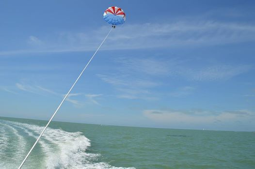 view of people parasailing in Marco Island