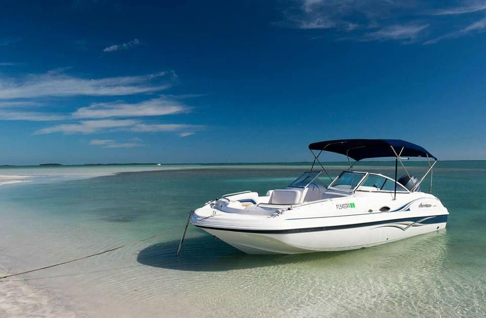 Boat on Marco Island beach