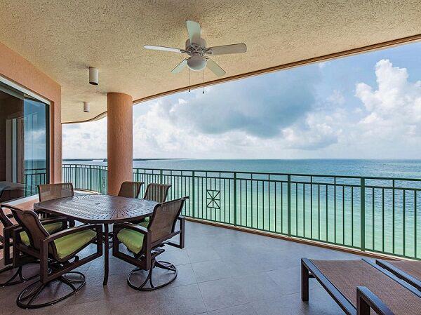 balcony of a beachfront condo on Marco Island