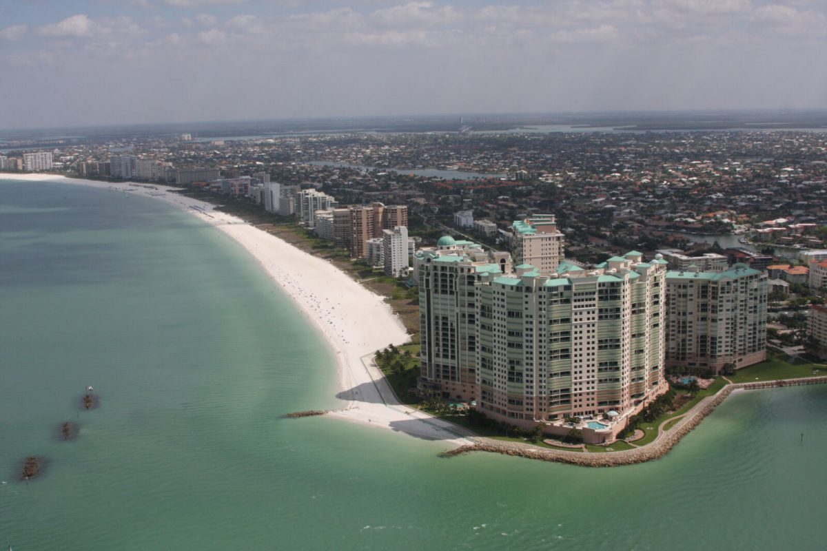 aerial of marco island