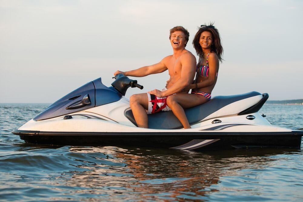 Picture of couple enjoying a Marco Island Jet Ski Tour.